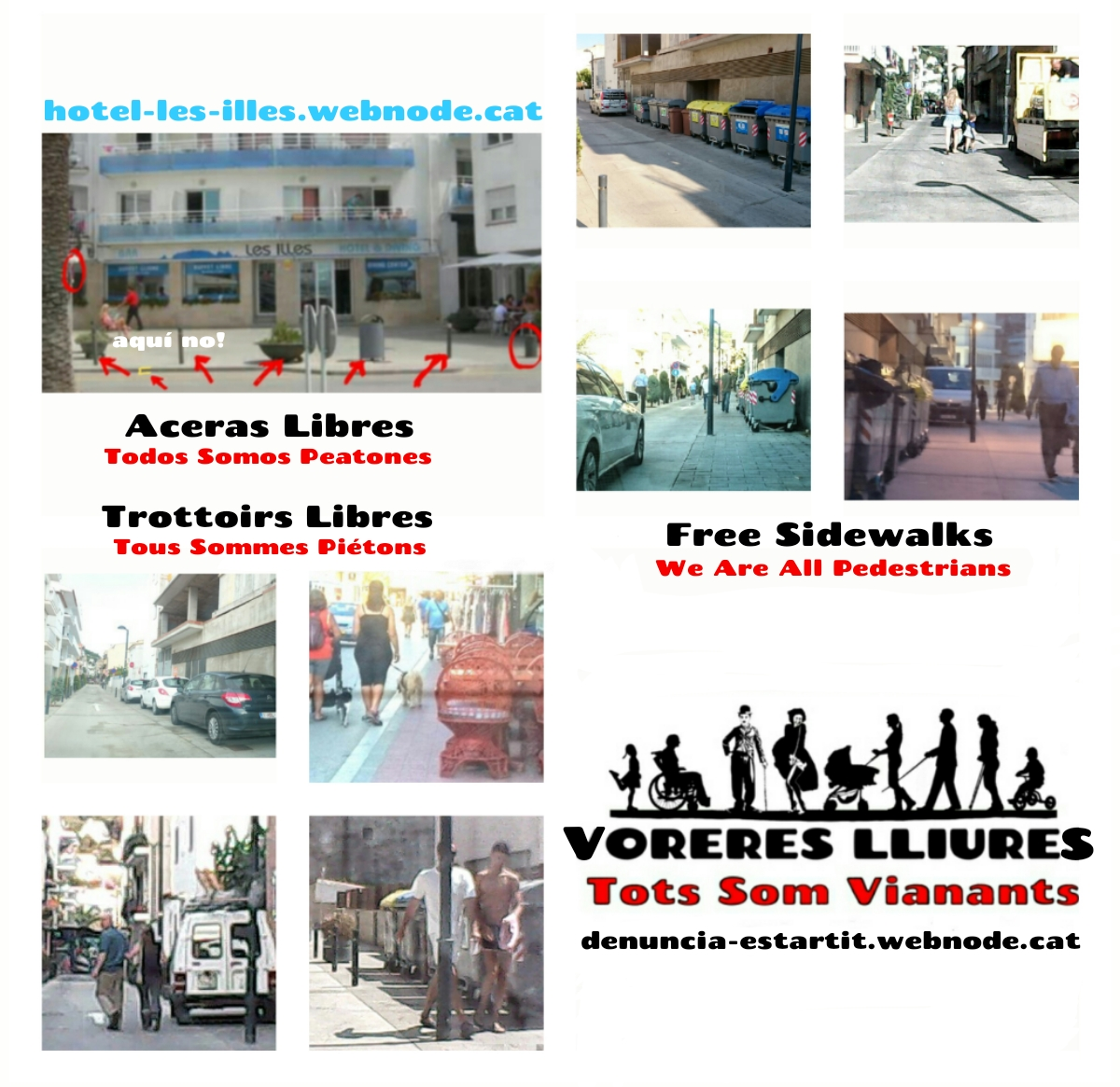 Aceras libres peatones Estartit Torroella Montgri